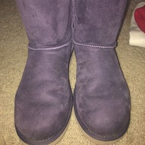 UGG Shoes - Dark purple Bailey bow uggs